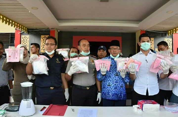 Polres Tanjungpinang Musnahkan 5,3 Kilo Sabu dan 18 Ribu Butir Pil Ekstasi
