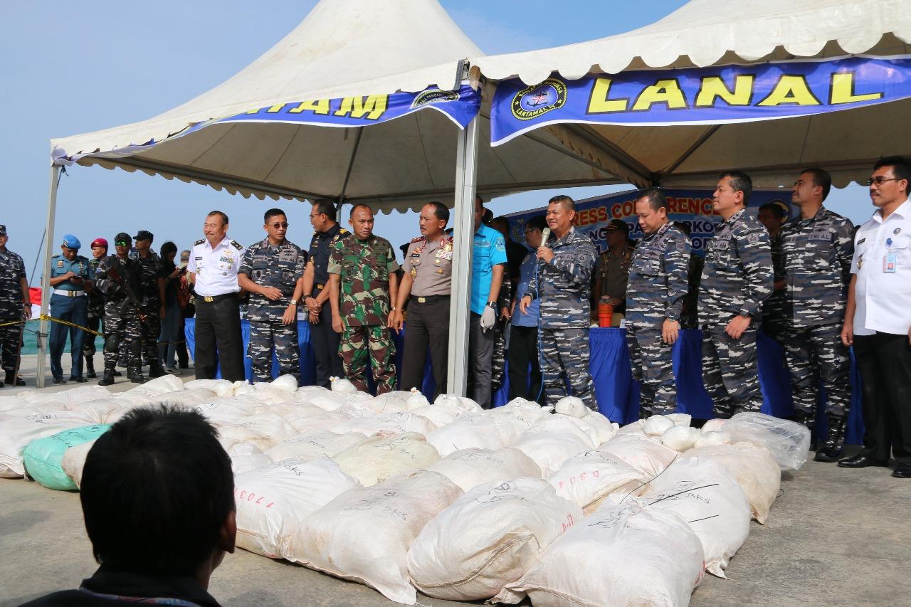 Ketua Komisi 1 DPR RI apresiasi TNI AL yang gagalkan penyeludupan 1 Ton lebih sabu-sabu