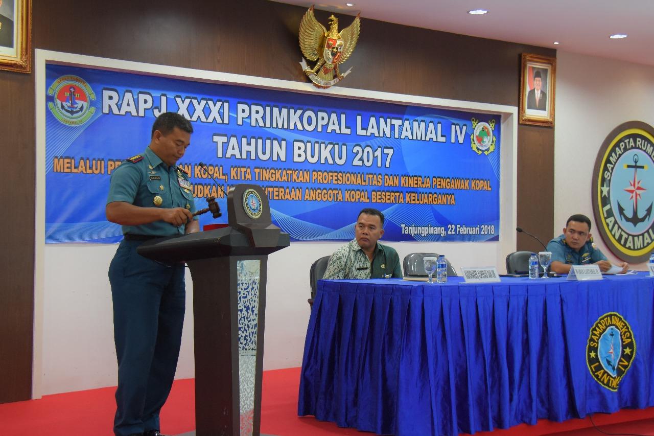Laporan Tahun Buku 2017, Primkopal Lantamal IV Adakan RAPJ