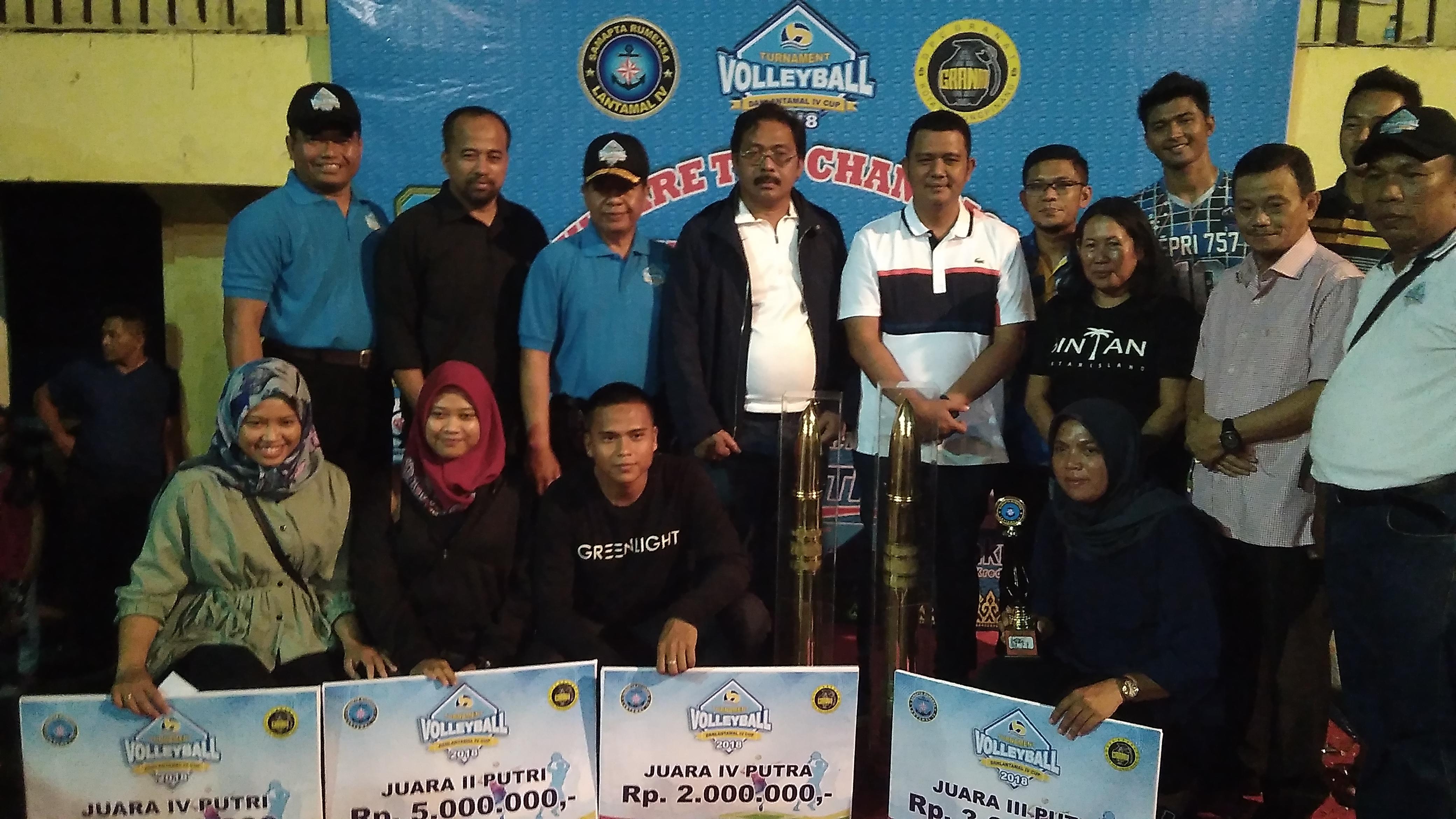 Final Voli Lantamal IV Cup, Tim ASG Kalahkan Kepri 757