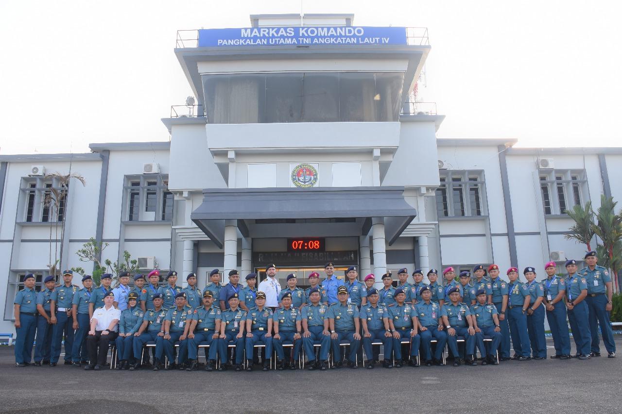 27 Pasis Seskoal Angkatan-56 Kunjungi Lantamal IV Tanjungpinang