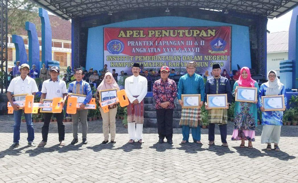 Sekda Bintan Pimpin Apel Penutupan Praktek Lapangan Praja IPDN Kampus Sumatera Barat