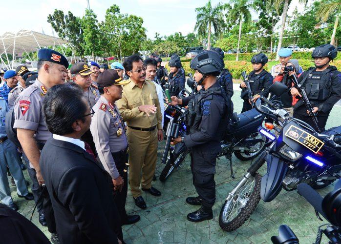 Gubernur dan Kapolda Pastikan Kesiapan Pasukan