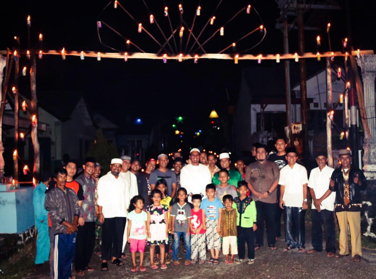 Suasana Malam Ramadhan di Bintan Diterangi Lampu Cangkok
