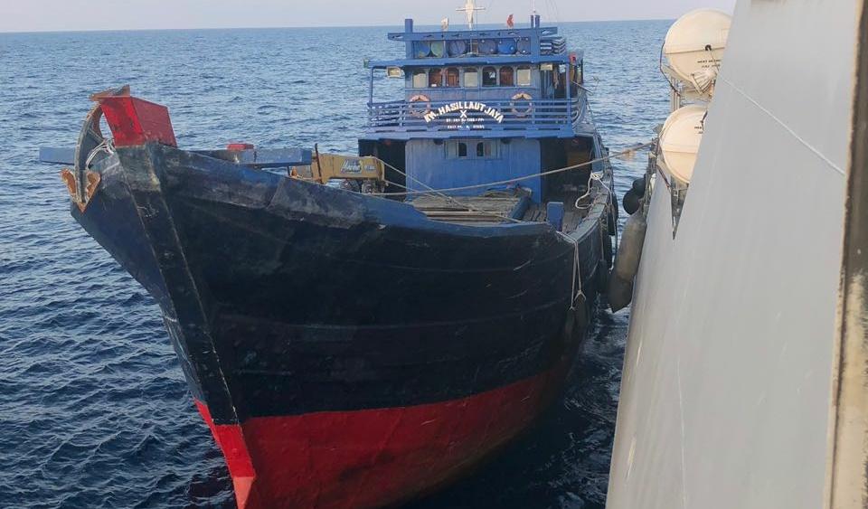 Dokumen Tidak Lengkap, Guskamla Koarmada I Tangkap Kapal Bawa Ikan di Tambelan