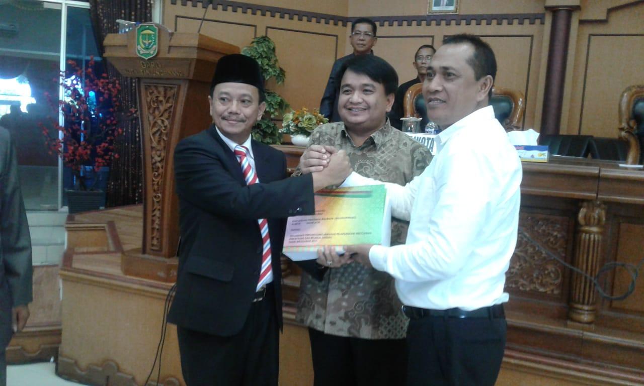 Pj. Wali Kota Tanjungpinang Sampaikan Ranperda Pertanggunjawaban Pelaksanaan APBD 2017