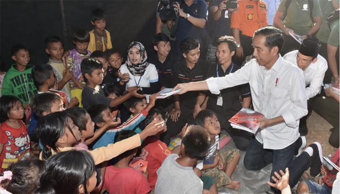 Jokowi Tinjau Penangan Gempa NTB