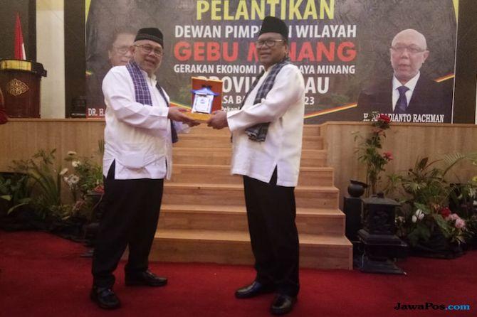 Lantik DPW Gebu Minang Riau, OSO: Ingat, Jangan Mau Dipecah Belah