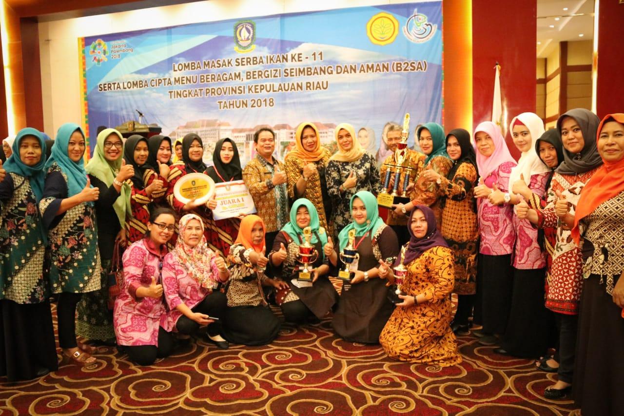 Kabupaten Bintan Juara Umum Lomba Gemar Ikan dan B2SA Tingkat Provinsi Kepri
