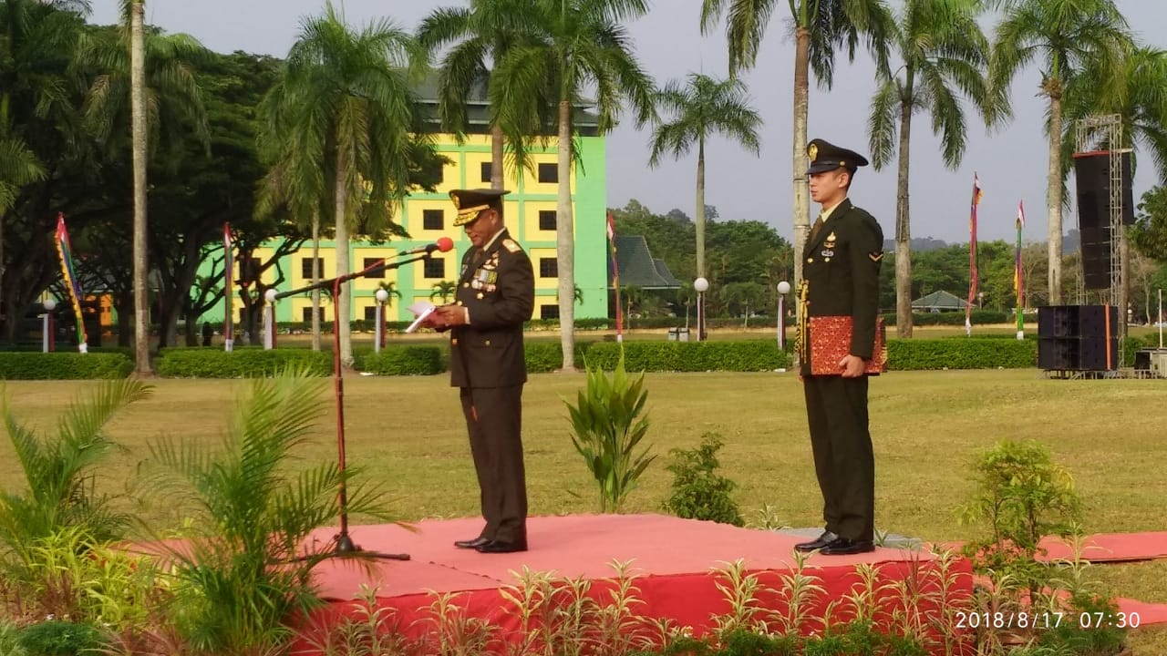 Danrem 033/WP Inspektur Upacara HUT RI ke 73 di Batamindo