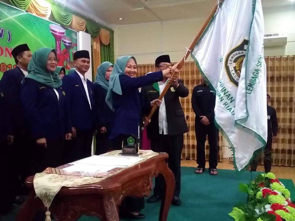 Hj Yuniarni Pustoko Weni Jabat Ketua Dewan Pimpinan Wilayah LASQI Prov Kepri Masa Bakti 2018-2023
