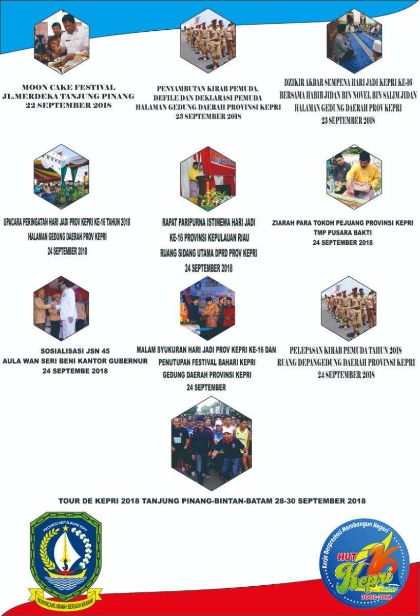Rangkaian Acara Sempena Hari Jadi Provinsi Kepulauan Riau Ke 16 Tahun 2018
