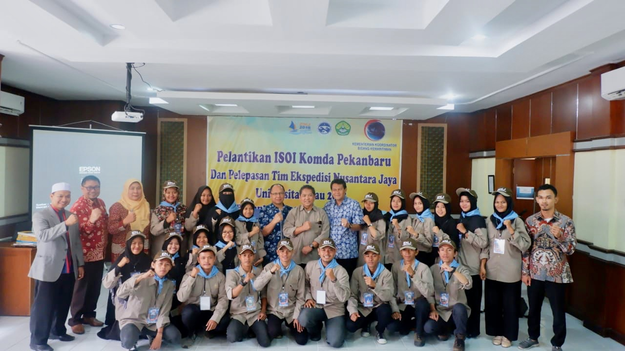 Pelantikan ISOI Komda Pekanbaru dan Pelepasan Peserta Ekspedisi Nusantara Jaya UNRI 2018
