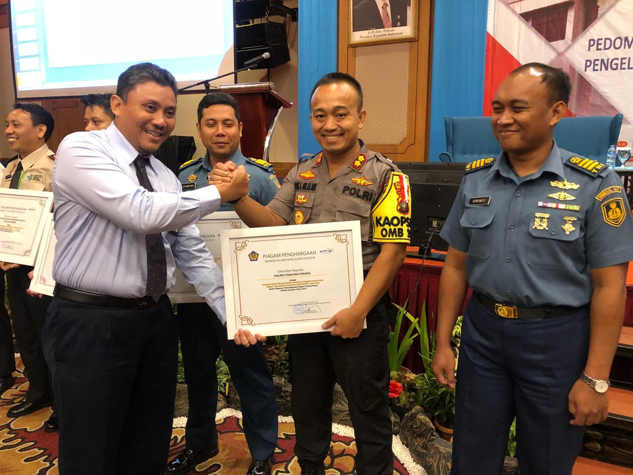 Polres Tanjungpinang Terbaik II Kelola Anggaran Tahun 2018