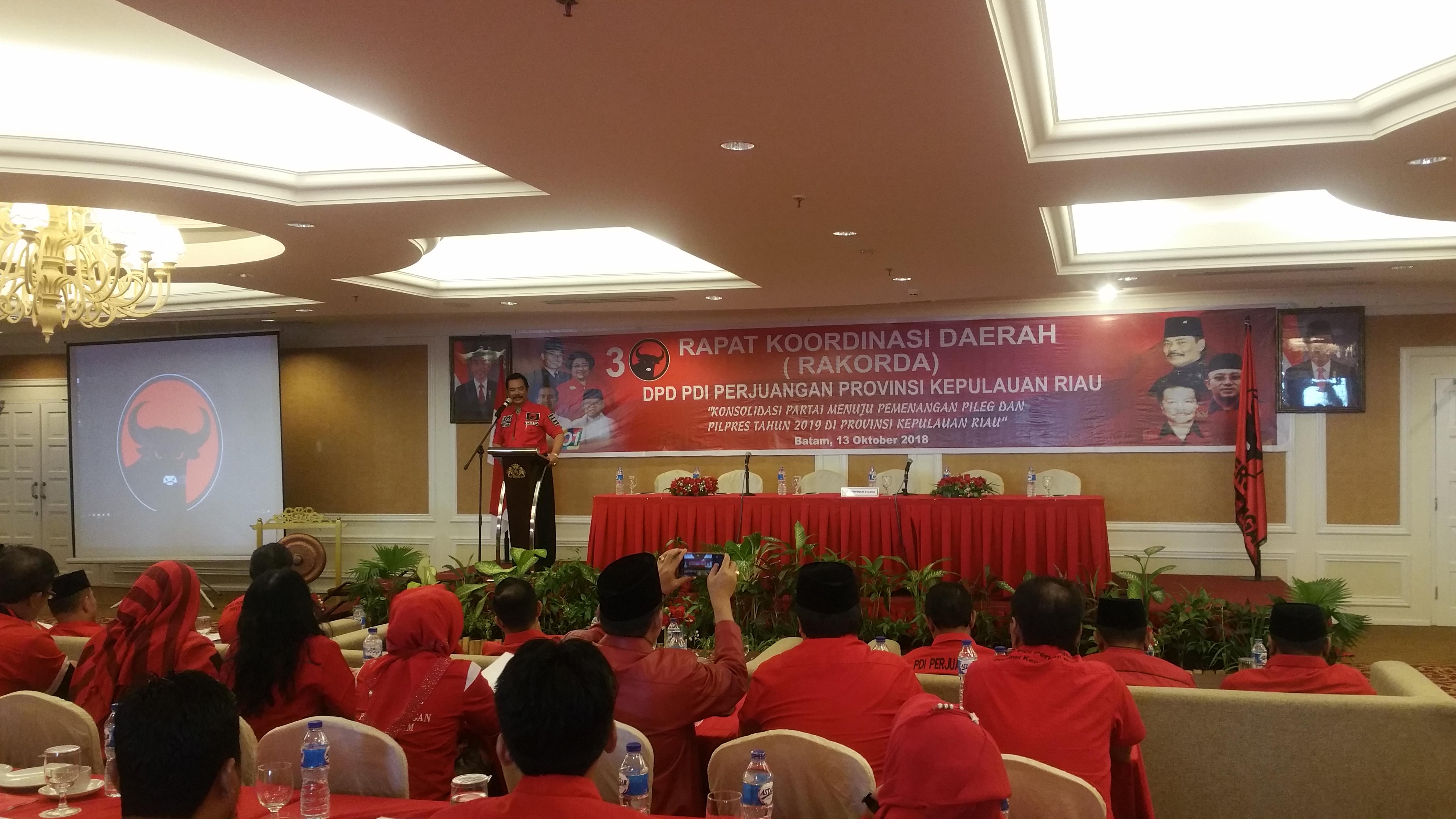 Rapat Koordinasi Daerah (RAKORDA) PDI Perjuangan Provinsi Kepulauan Riau