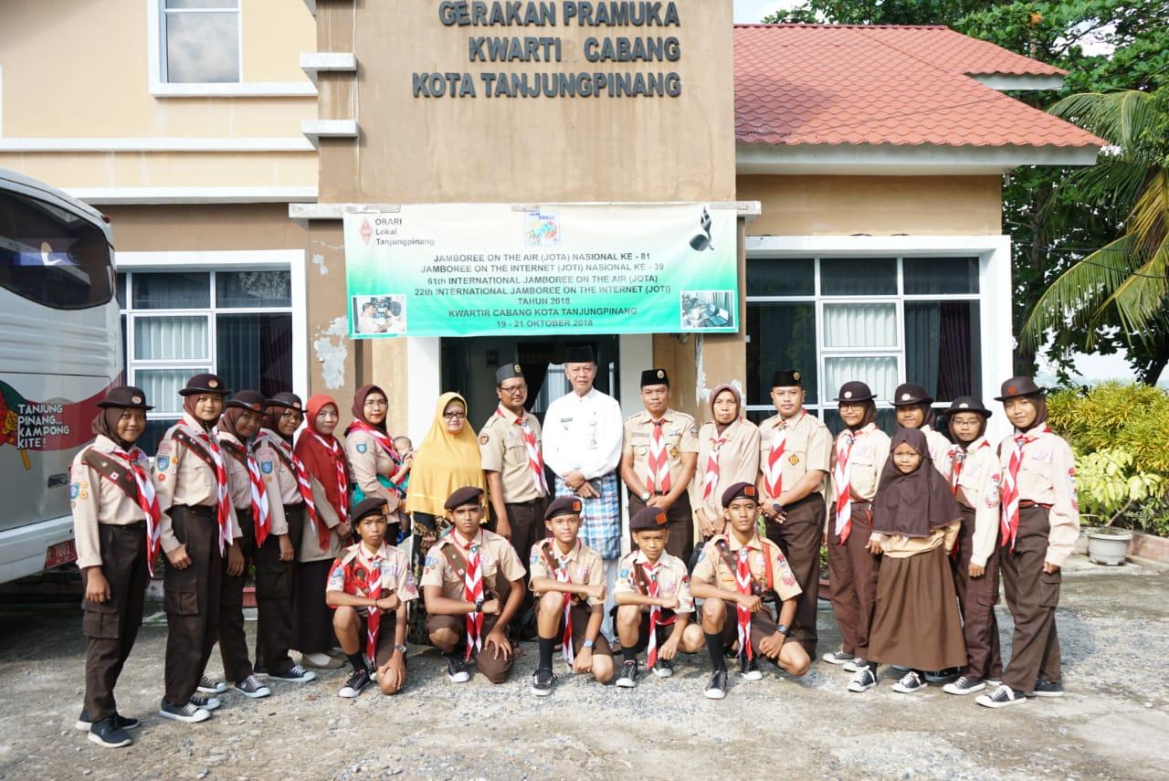 Syahrul melepas kontingen Penggalang ke Cibubur dan Bekasi
