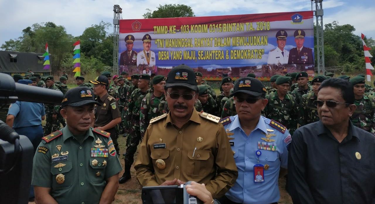 Gubernur Kepri Buka Kegiatan TMMD Ke 103 di Desa Penggudang