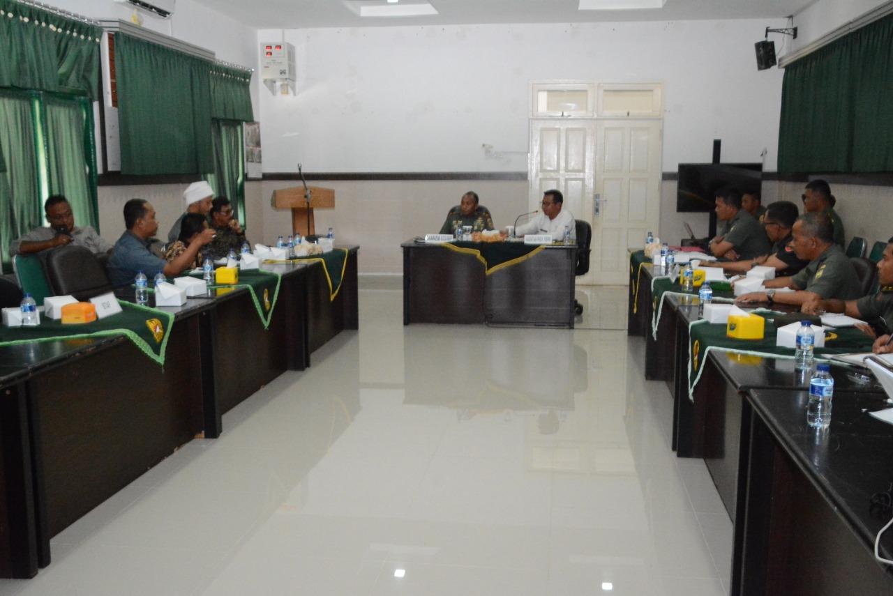Cetak Sawah Lingga-Natuna, Korem 034/WP dan Distan Kepri Lakukan Rakor