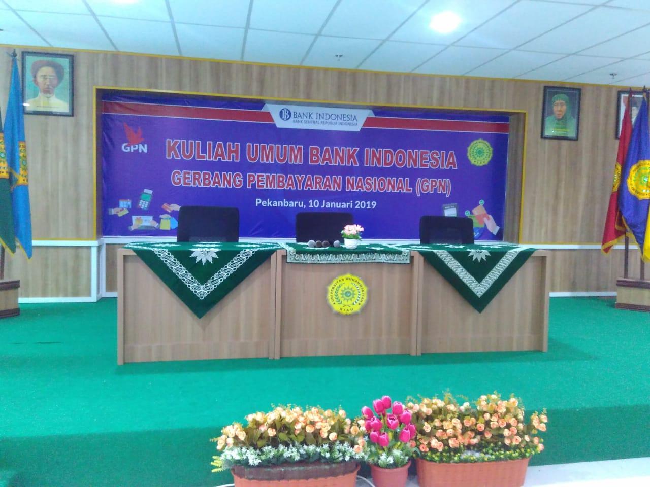 """""""SEMINAR"""" Kuliah Umum Bank Indonesia Gerbang Pembayaran Nasional (GPN)"""