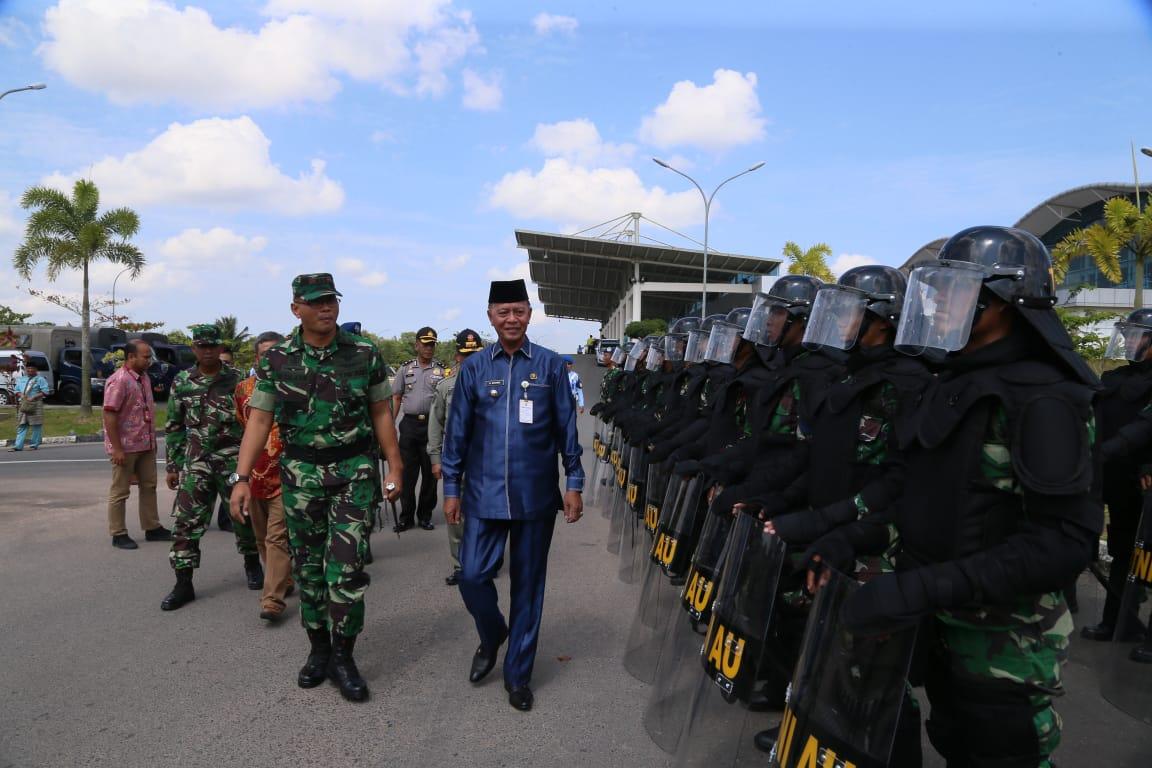 Lanud RHF Gelar Simulasi Pengamanan Pemilu 2019