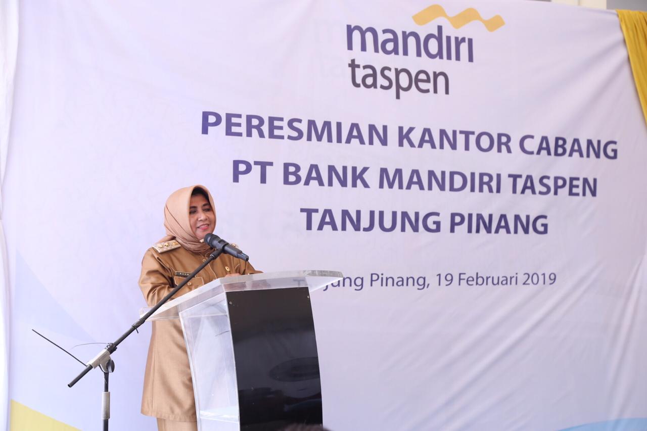 Wawako Resmikan Kantor Cabang Bank Mandiri Taspen Tanjungpinang