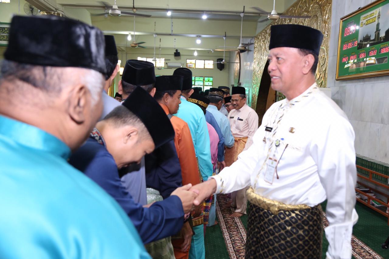 Korpri gelar wirid bulanan dan tausyiah sambut Ramadhan di Mesjid Agung Al Hikmah