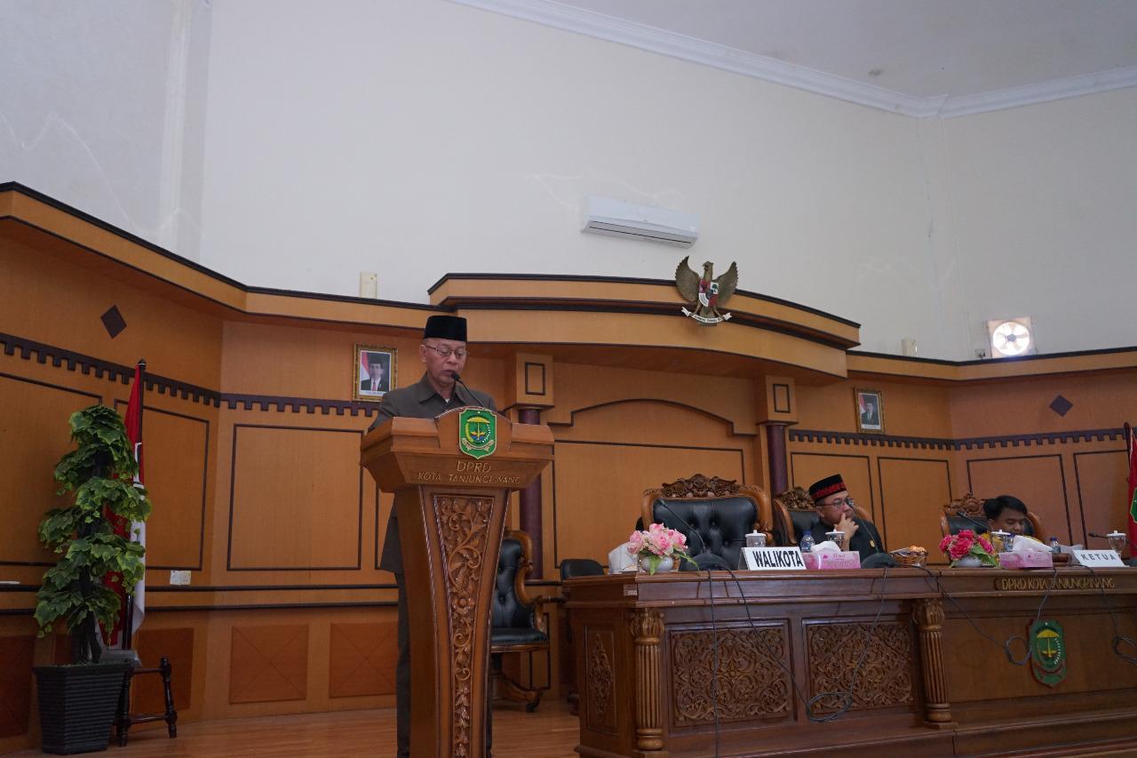 Walikota Sampaikan Jawaban Pandangan Fraksi Terhadap RAPBD-P tahun 2019.