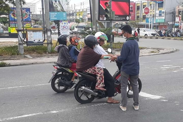 """""""Gerakan Riau Bebas Asap"""" Lantang Disuarakan HMI Komisariat Faperta-UNRI"""