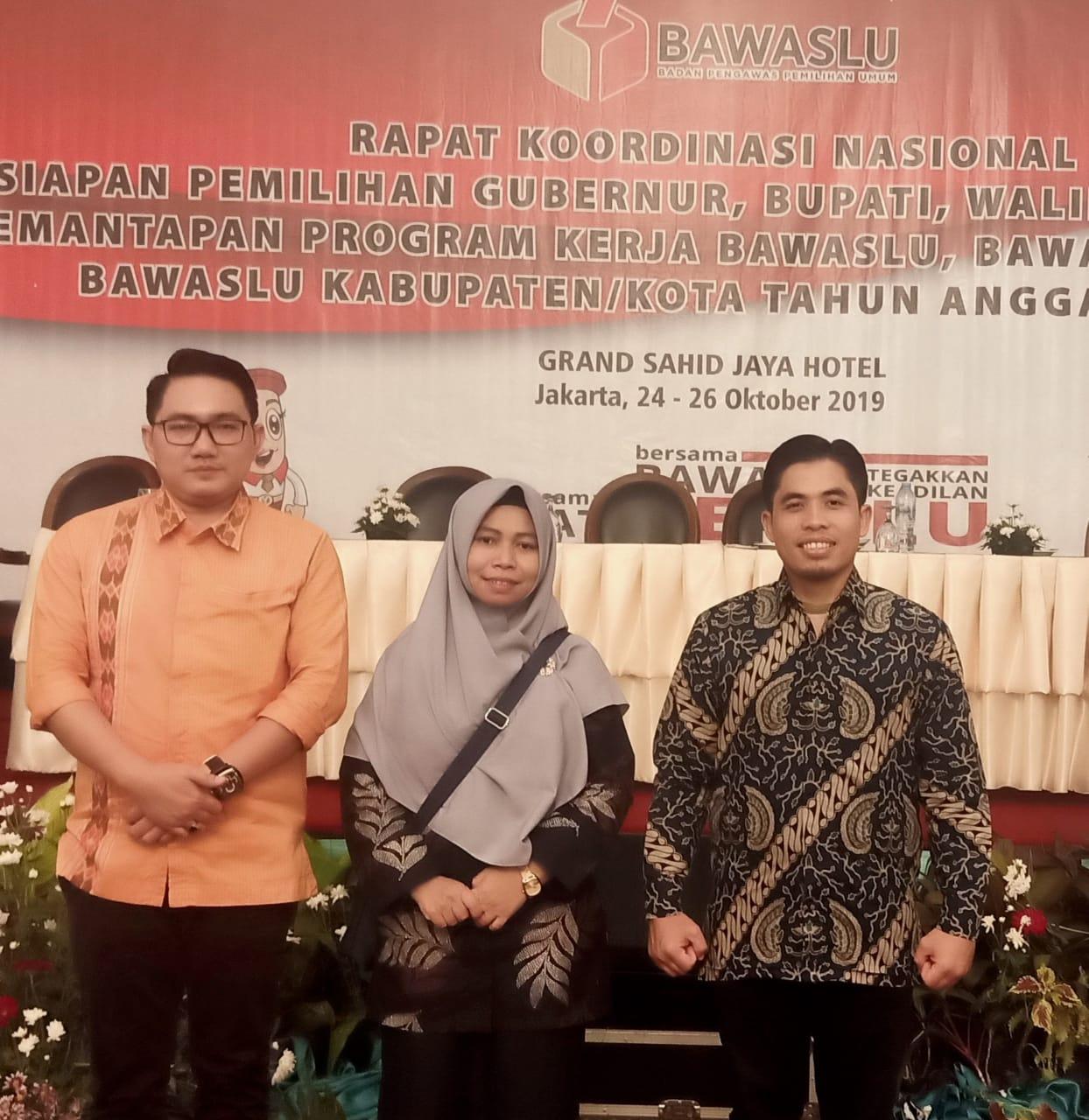 Hadiri Rakornas Bawaslu RI, Bawaslu Kota Tanjungpinang Siap Sukseskan Pilgub 2020