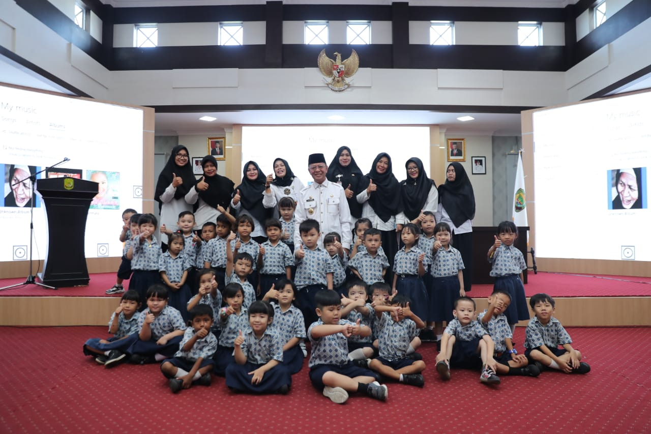 Syahrul menerima kunjungan 37 siswa-siswi TK Mawar