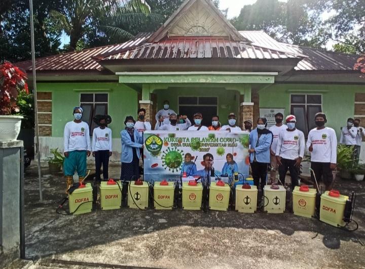 Mahasiswa Universitas Riau Melaksanakan KUKERTA (Kuliah Kerja Nyata) Relawan Covid-19 di Desa Duara