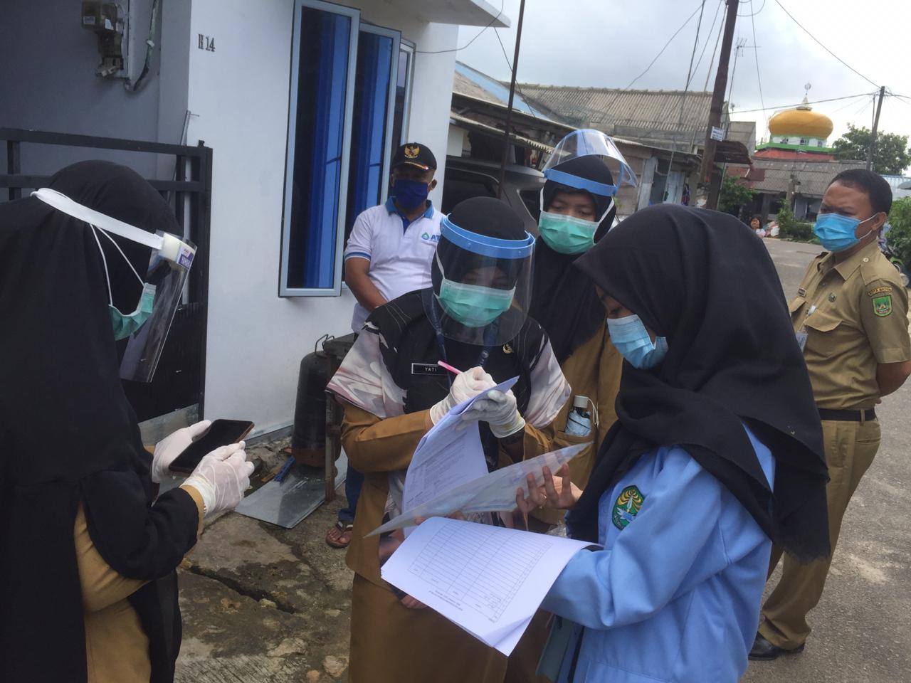 KKN Relawan Universitas Riau Bantu Pencegahan Penyebaran Mata Rantai Covid-19