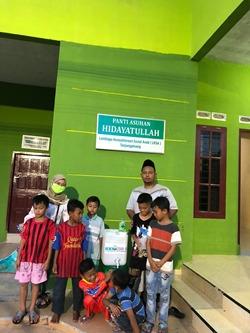 Cegah Virus Corona, Mahasiswa KKN UNS Sediakan Fasilitas Cuci Tangan di Wilayah Bukit Cermin