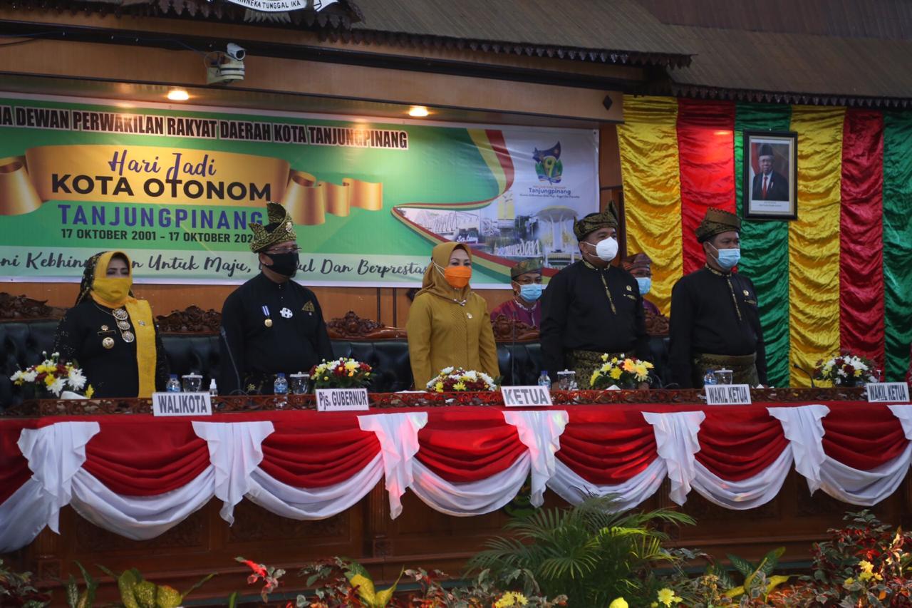 HUT Kota Otonom Tanjungpinang ke-19 Jadi Momentum Evaluasi Pembangunan