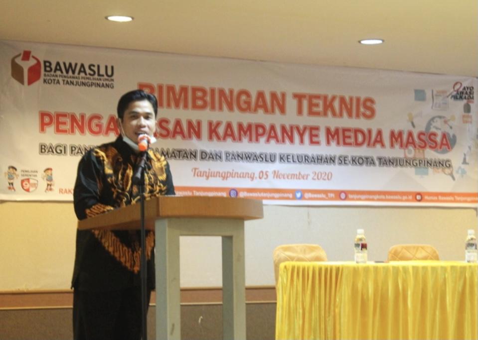 Bawaslu Kota Tanjungpinang adakan Bimtek Pengawasan Kampanye Media