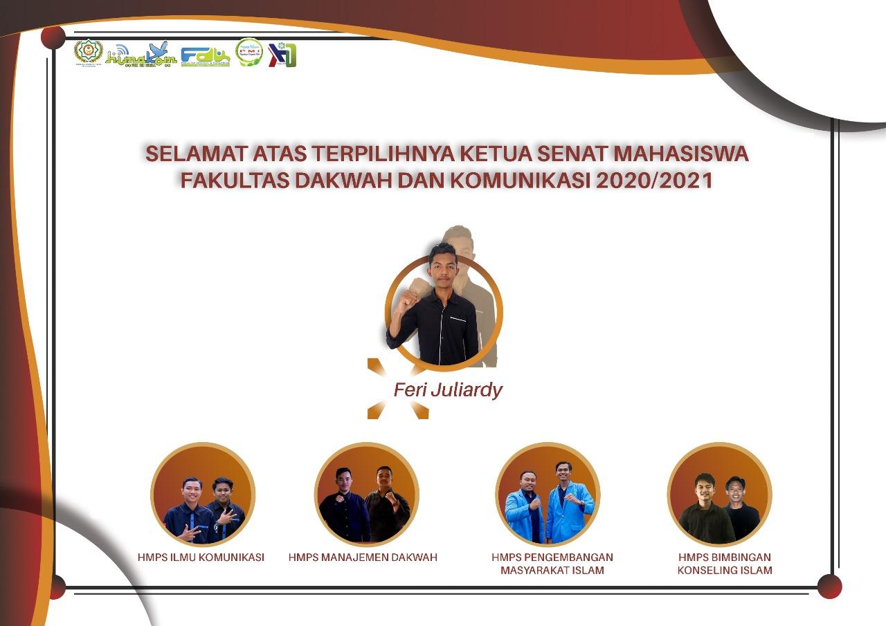 Feri Juliardy Terpilih Menjadi Ketua Sema FDK UIN SUSKA 2020-2021
