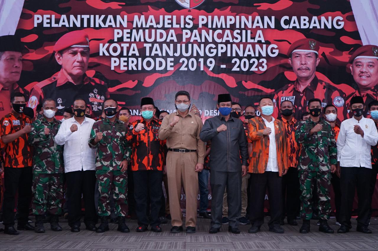 Pelantikan MPC Pemuda Pancasila, Sekda Teguh Ajak Bangun Tanjungpinang