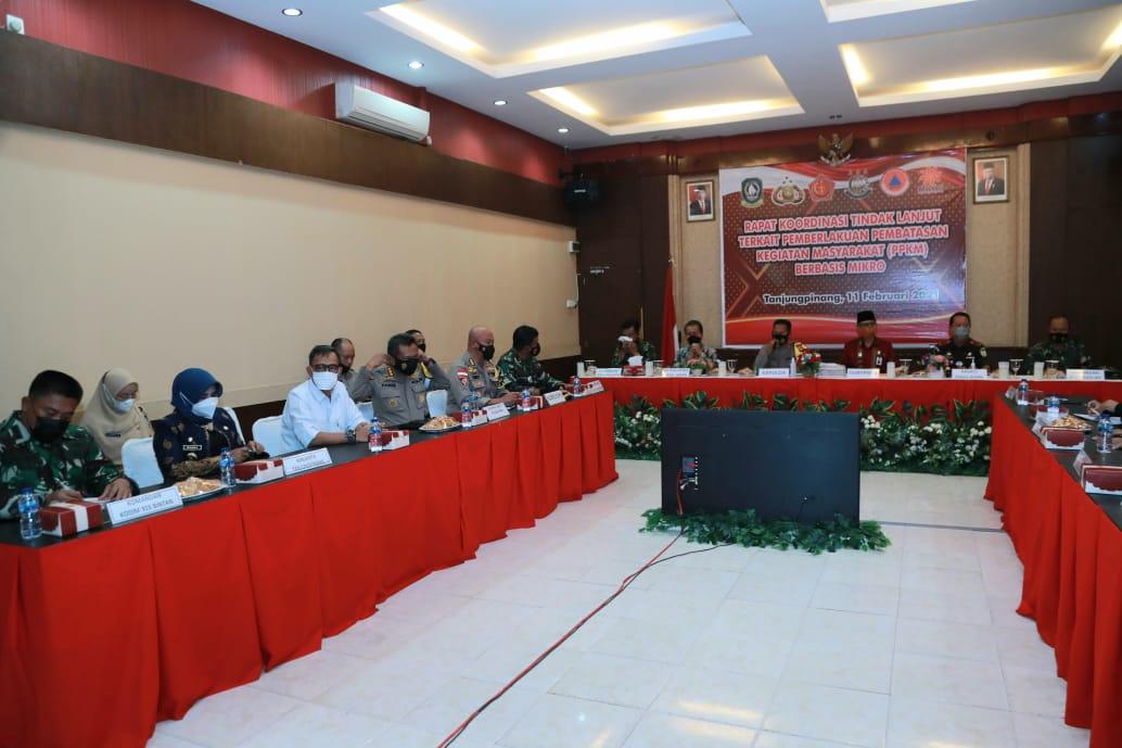 Wali Kota Tanjungpinang Hadiri Rakor PPKM dengan Polda Kepri