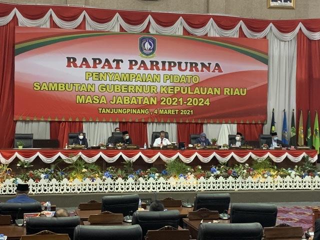 Gubernur Sampaikan Pidato Perdana Dihadapan DPRD Kepri