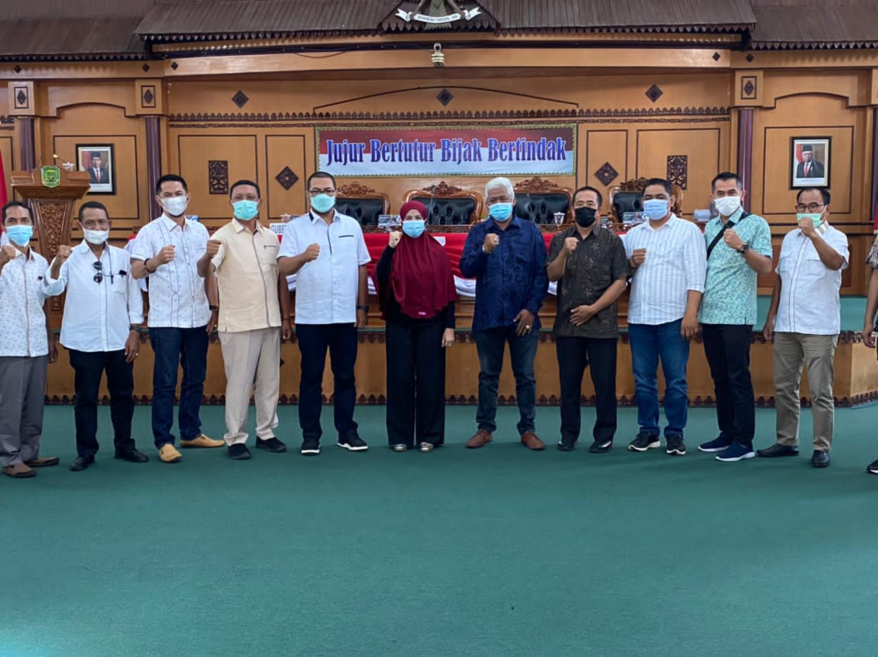 Rina Febriani Sambut Kunjungan DPRD Indragiri Hilir