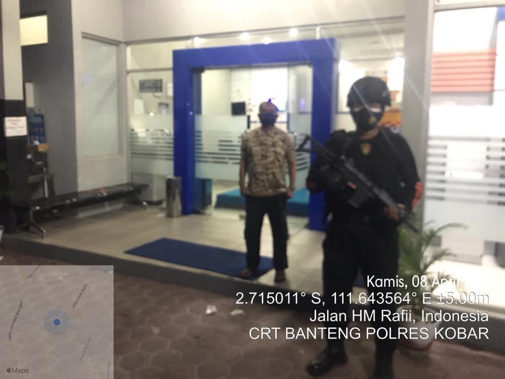 CRT Banteng Satreskrim Polres Kotawaringin Barat Patroli sambang Bank-Bank di wilayah Pangkalan Bun