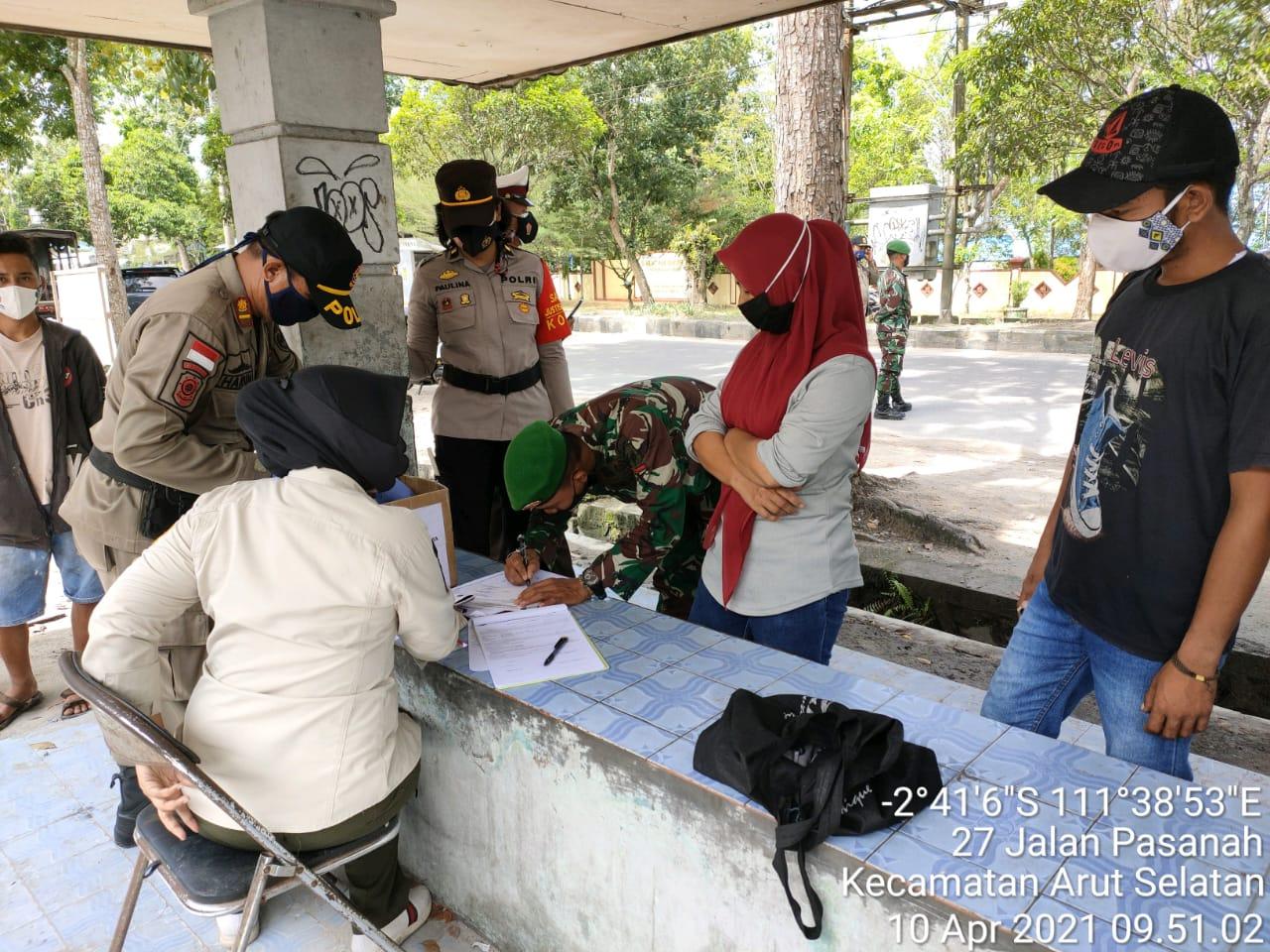 Giat Operasi Yustisi Gabungan Pagi Hari Masih Temukan Warga Yang Melanggar Prokes