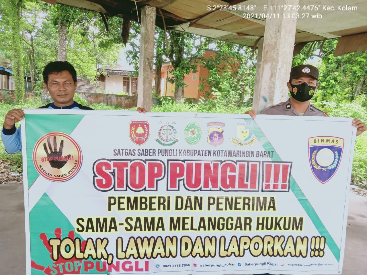 Aipda Hamsan Sosialisasikan Tolak Praktek Pungli