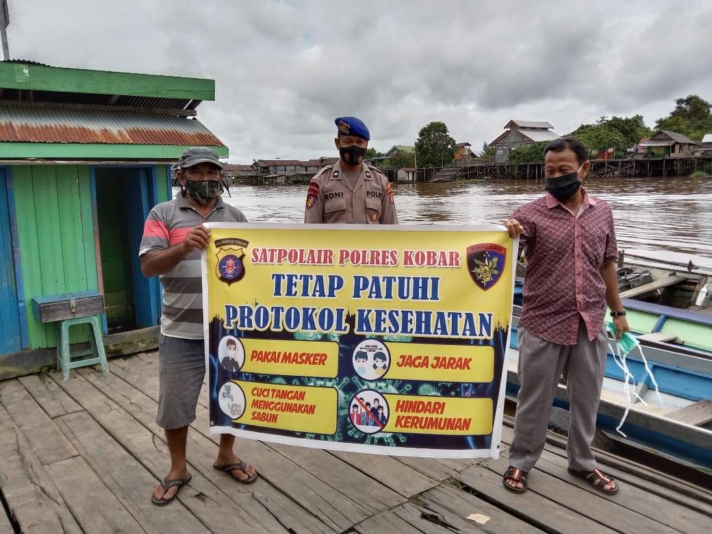 Satpolairud Polres Kobar Laksanakan Polmas Di Bantaran Daerah Aliran Sungai DAS Arut
