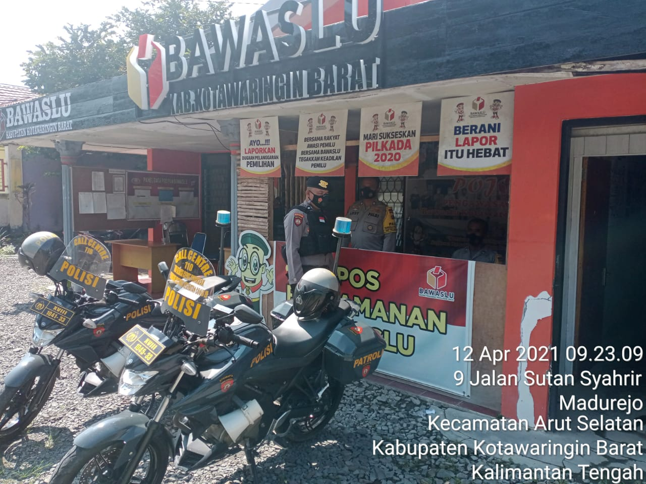 Shabara Polres Kobar Sambangi Kantor Bawaslu