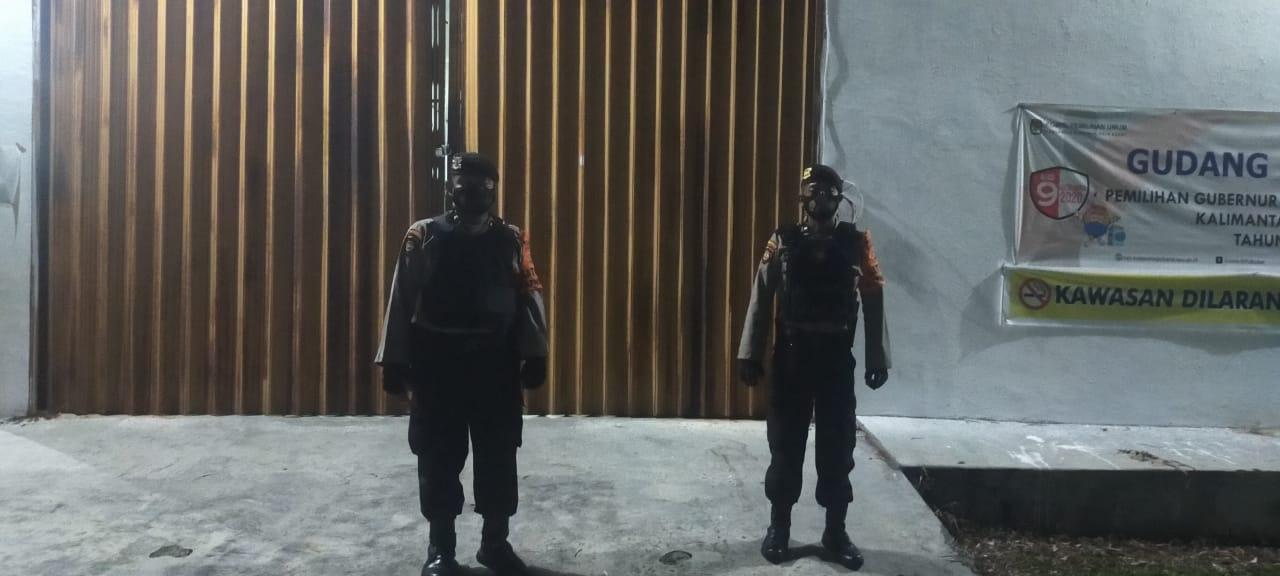 Team Patroli Rajawali Datangi Kantor KPUD Kobar
