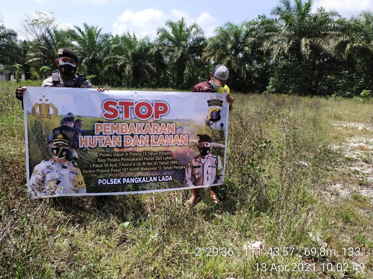 Anggota Polsek Pangkalan Lada gencar Laksanakan Kegiatan Patroli Karhutla