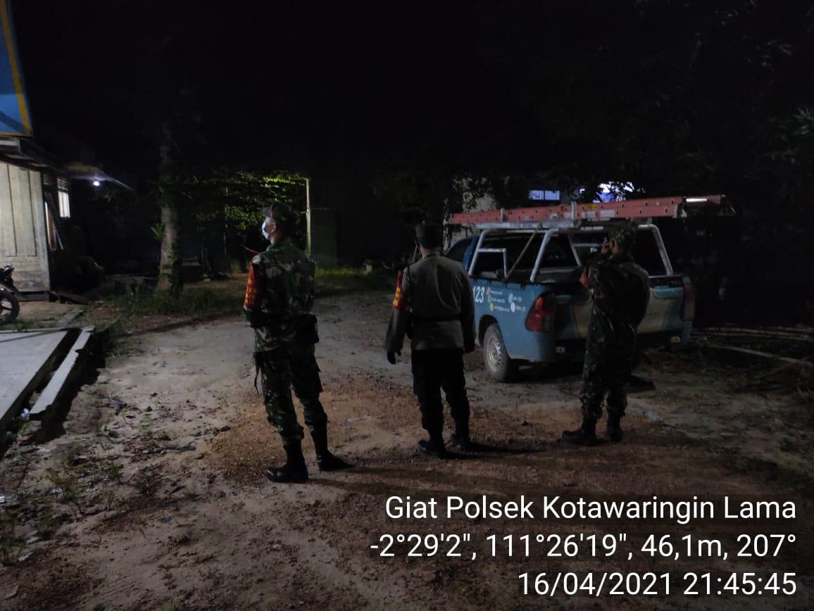 Personil gabungan Polsek dan Koramil Kolam tingkatkan Patroli