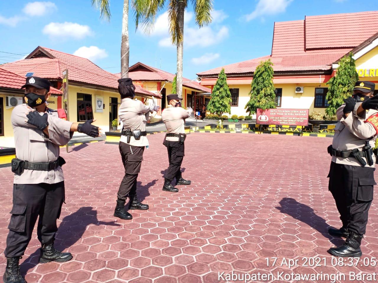 Personil Satbinmas Polres Kobar rutin laksanakan olahraga pagi