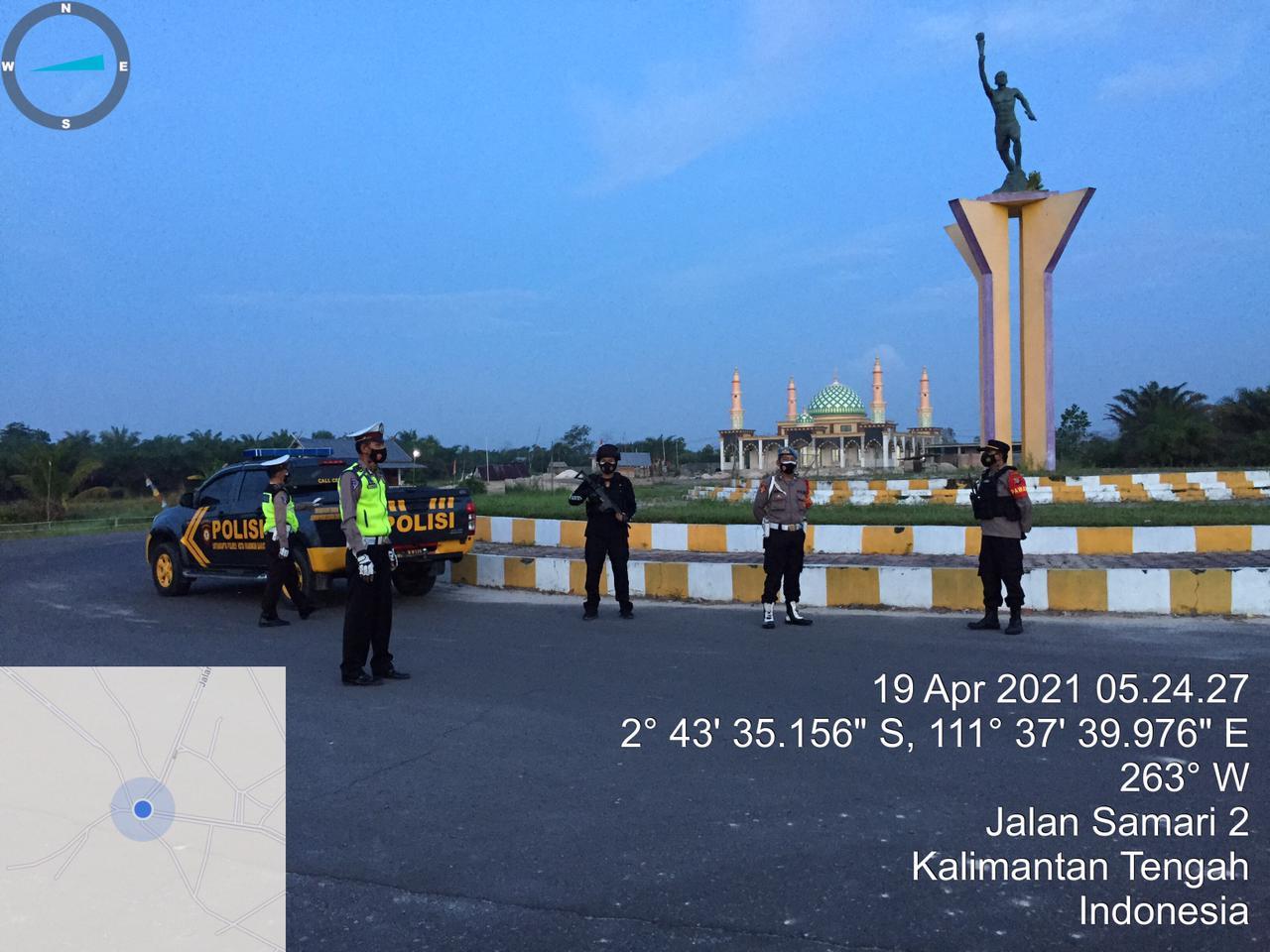 Polres Kobar Lakukan Patroli pagi antisipasi adanya balapan liar setelah pelaksanaan Sholat Subuh